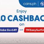 Enjoy ₱10 Cashback for Go+149 and TM EasySurf140!